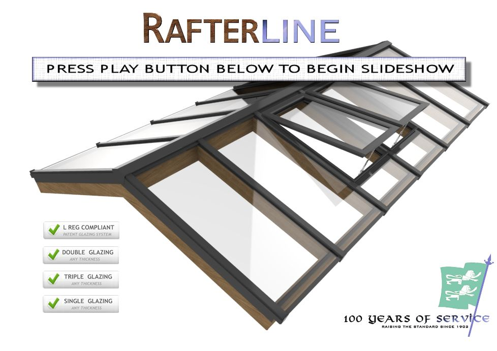 Roof Glazing Systems : Rafterline patent glazing bars