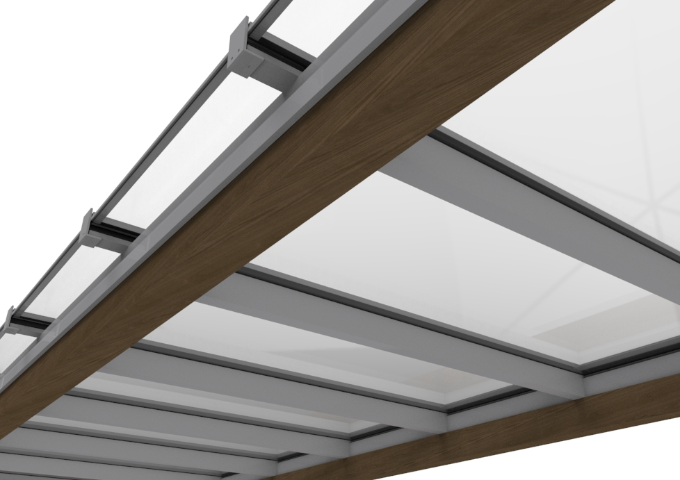 3D Render of Skyline Box Roof Patent Glazing